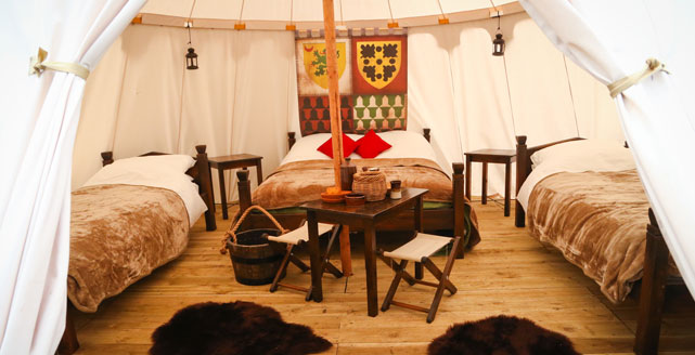 Warwick Castle Glamping Image